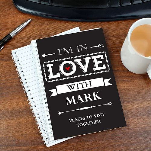 Personalised In Love With A5 Notebook